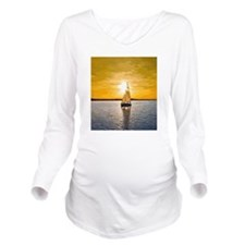 Sailing into the sun Long Sleeve Maternity T-Shirt