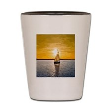 Sailing into the sunset Shot Glass