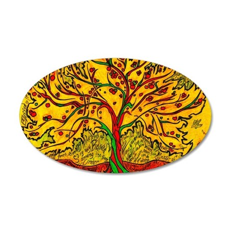 Tree of Life 35x21 Oval Wall Decal