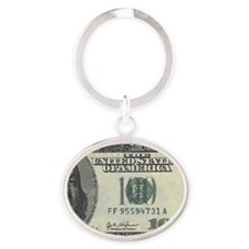 100 dolla Oval Keychain