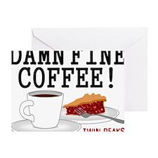 Twin Peaks Damn Fine Coffee Greeting Card