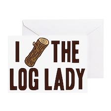 I Love The Log Lady Twin Peaks Greeting Card