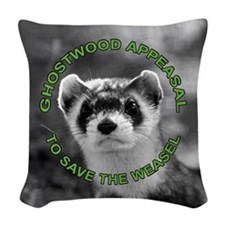 Appease The Pine Weasel Twin P Woven Throw Pillow