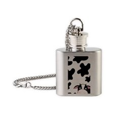 Black and White Cow Flask Necklace