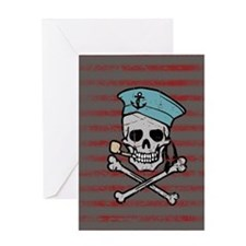Sailor Skull Greeting Card