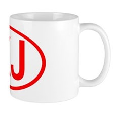 XJ Oval (Red) Mug