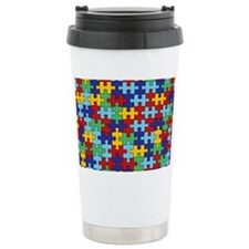 Autism Awareness Puzzle Travel Mug