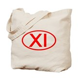 XI Oval (Red) Tote Bag