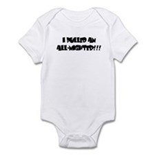 I pulled an all-nighter!!! Infant Bodysuit