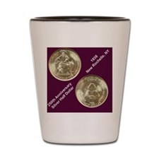 New Rochelle 1938 Silver Half Dollar Shot Glass