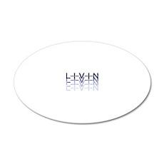 Livin. L I V I N 20x12 Oval Wall Decal