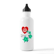 SEA TURTLE HEART Water Bottle