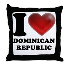 I Heart Dominican Republic Throw Pillow