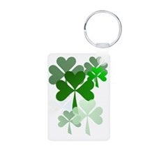 Faded Shamrocks-Trans Keychains