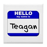 hello my name is teagan  Tile Coaster