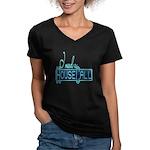 house call Women's V-Neck Dark T-Shirt
