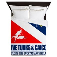 Dive Turks  and Caicos Queen Duvet