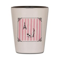 A walk in Paris Pink Shot Glass