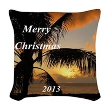 Sunset Oahu, Hawaii Woven Throw Pillow