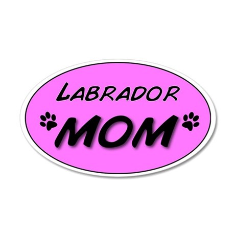 Labrador Mom 35x21 Oval Wall Decal