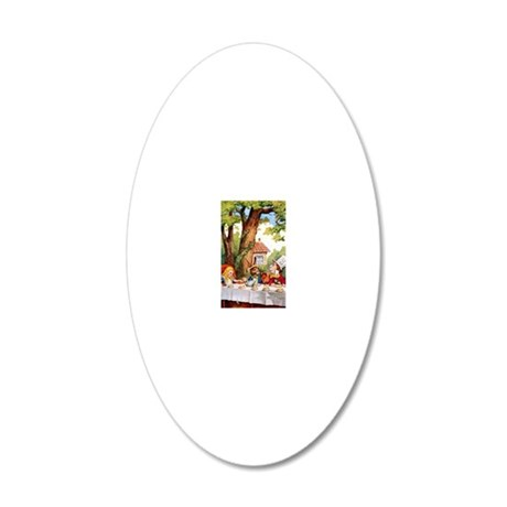 ALICE_MAD HATTER_10x14 20x12 Oval Wall Decal