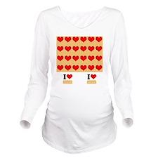 I heart twinkies Long Sleeve Maternity T-Shirt