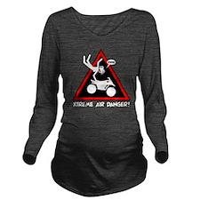 XTREME AIR STICKGIRL Long Sleeve Maternity T-Shirt