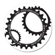Lowe Gear Sprocket Round Car Magnet