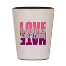 Love Hate Burpees Shot Glass