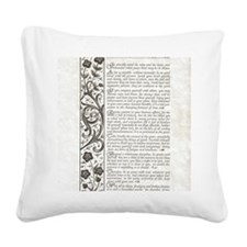 The Desiderata Poem by Max Eh Square Canvas Pillow