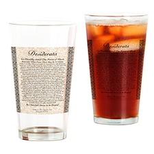 desiderata de lis rose stone Drinking Glass