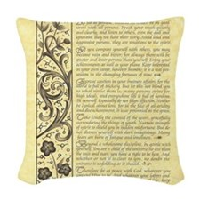 maize stone calli parchment de Woven Throw Pillow