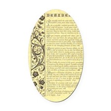 maize stone calli parchment deside Oval Car Magnet