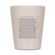 The Desiderata Poem by Max Ehrmann Shot Glass