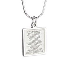 The Desiderata Poem by Max Silver Square Necklace