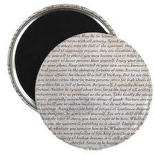 The Desiderata Poem by Max Ehrmann Magnet