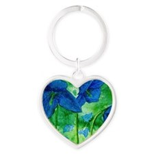 blue bells Heart Keychain
