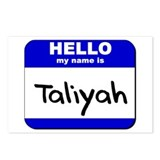 hello my name is taliyah  Postcards (Package of 8)