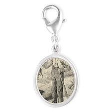 Huckleberry Finn Silver Oval Charm