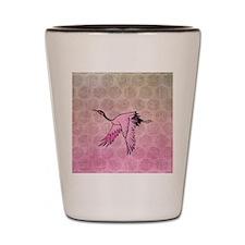 Pink Crane Shot Glass