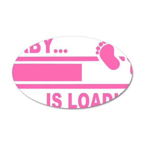 Baby is Loading 35x21 Oval Wall Decal