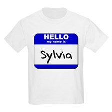 hello my name is sylvia T-Shirt