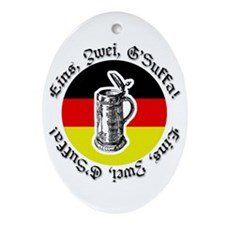 Oktoberfest Bier Oval Ornament