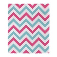 Pink Chevron Throw Blanket