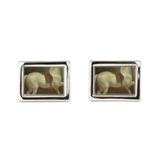 Beautiful White Horse Cufflinks