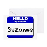 hello my name is suzanne  Greeting Cards (Package