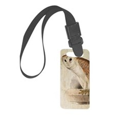 Barn Owl Luggage Tag