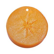 Slice of Persimmon Ornament (Round)