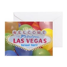 Las Vegas Birthday Party! Cards Pk of 10