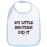My Little Brother Did It Bib - Pink Bib